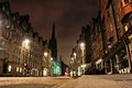 Edinburgh night view of the royal mile scotland Royalty Free Stock Image