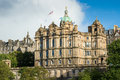 Edinburgh parliment house in town center parliament of Royalty Free Stock Photos