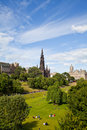 Edinburgh Princes Gardens Royalty Free Stock Photo