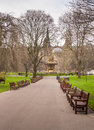 Edinburgh princess garden Royalty Free Stock Photo