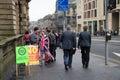 """Edinburgh schotland het uk †"""" september de dag van het onafhankelijkheidsreferendum Royalty-vrije Stock Fotografie"""