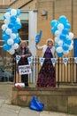 """Edinburgh schotland het uk †"""" september de dag van het onafhankelijkheidsreferendum Stock Afbeeldingen"""