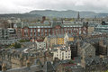 Edinburgh in scotland cityscape over Royalty Free Stock Photo