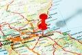Edinburgh   scotland  map Royalty Free Stock Photo