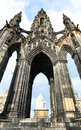 Edinburgh scotland scott monument the is a victorian gothic to scottish author sir walter it is the largest to a writer in Stock Photos