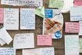 Edinburgh scotland uk – september independence referendum day handwritten messages regarding on Stock Photos