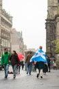 Edinburgh scotland uk – september independence referendum day man expressing his opinion on during Stock Photography