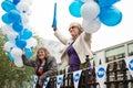 Edinburgh scotland uk – september independence referendum day public expressing their opinion on during in Stock Photos