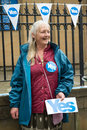 Edinburgh scotland uk – september independence referendum day public expressing their opinion on during in Royalty Free Stock Images
