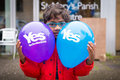 Edinburgh scotland uk – september independence referendum day young minority expressing their opinion on during Royalty Free Stock Image