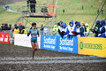 Edinburgh scotland uk january trihas gebre cros crosses the finish line in third place in the woman s k race at the great Stock Image