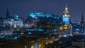 Edinburgh Skyline at Night Royalty Free Stock Images