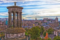 Edinburgh Skyline Royalty Free Stock Photo