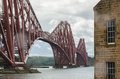 Edinburgh train bridge metal on a cloudy day Royalty Free Stock Image