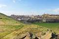 Edinburgh view from the hills of arthur s seat Royalty Free Stock Images