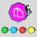 Edit document sign icon content button set colourful buttons modern ui website navigation vector illustration Royalty Free Stock Photo