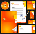 Editable corporate Identity template 1. Royalty Free Stock Photos