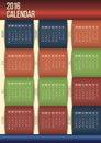 Editable moderne kalender Royalty-vrije Stock Foto