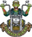 Zombie riding motorcycle Royalty Free Stock Photo