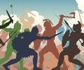 Battle melee illustration