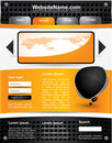 Editable vector website template Royalty Free Stock Images