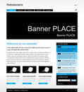 Editable web site template Royalty Free Stock Images