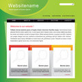 Editable web site template Royalty Free Stock Photography