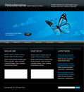 Editable web site template Stock Image