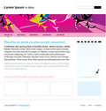 Editable web site template Royalty Free Stock Photo