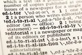 Editor office news editorial newspaper dictionary Royalty Free Stock Photo