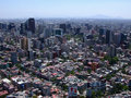 Editorial aerial shot vast mexico city Stock Photos