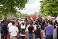 Editorial christian funerals of burial was held on march at the cemetery sak ban tha rae sakon nakhon has performed the funeral of Stock Photography