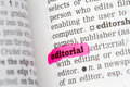 Editorial dictionary definition single word with soft focus Royalty Free Stock Photo