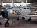 Editorial f sabre f antique museum brussels belgim oct historic fighter airplane is seen on display at the royal of the armed Stock Image