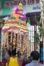 Editorial illustrative image. Temple festival India Royalty Free Stock Photo