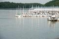 Editorial: Joe Wheeler State Park Alabama Marina and river Royalty Free Stock Photo