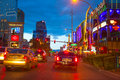 Editorial use only las vegas nevada strip at night in spring Royalty Free Stock Image