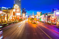 Editorial use only las vegas nevada strip at night in spring Stock Photos