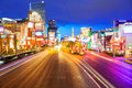 Editorial use only las vegas nevada strip at night in spring Royalty Free Stock Photos