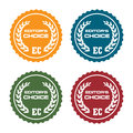 Editors choice badges set of four isolated on a white background Stock Images