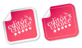 Editors choice stickers Royalty Free Stock Photography