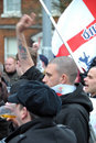 EDL Demo in Blackburn Royalty Free Stock Photo