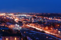 Edmonton city nightshot Royalty Free Stock Images