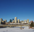 Edmonton in winter the downtown skyline of alberta canada the Royalty Free Stock Photography