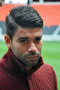 Eduardo ahead of the match with karpaty lviv the pitmen's number answered questions from journalists Royalty Free Stock Photos