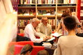 Eduardo mendoza warsaw poland may famous spanish writer signs copies of his new book at the merlin bookstore on may in warsaw Stock Photo