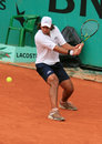 Eduardo Schwank at Roland Garros Royalty Free Stock Images