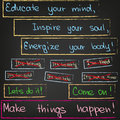 Educate your mind inspire your soul the way how success can be achieved Royalty Free Stock Photos