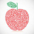 Education apple Royalty Free Stock Photos