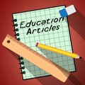 Education Articles Represents Learning Information 3d Illustrati